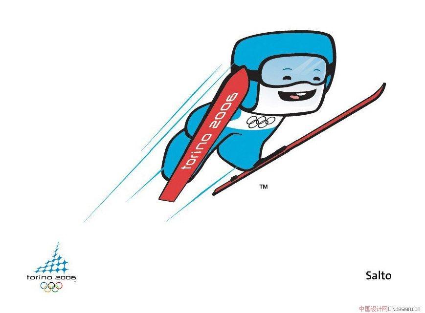 冬奧會吉祥物運動項目_圖形字體_字體設計作品-中國網