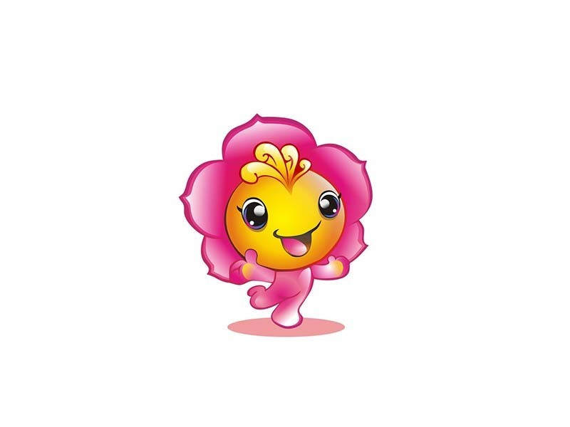 太阳花 吉祥物 - 艺术字体_艺术字体设计_字体下载